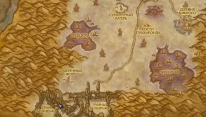 Где находится Храм Ан'Киража