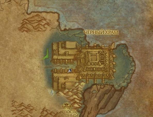Где находится Черный храм